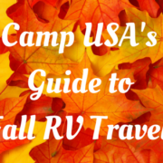 Camp USA's Guide to Fall RV Travel!